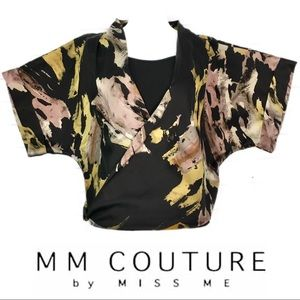 MM Couture by Miss Me Kimono Sleeve Wrap Blouse
